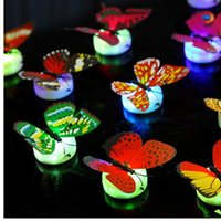 Mariposa realista luces LED Noche de la fiesta de bodas Decors luces bebé noche luz LED Navidad regalos de vacaciones llevado luces brillantes JF-38