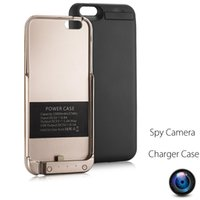 Wholesale Wireless Hidden Cameras Surveillance Spy Camera Portable Power Bank Charger iPhone s Battery Case with mAh Capacity inch