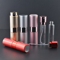 aluminum cosmetic containers - Aluminum Telescopic scalable rotary Perfume Bottle Spray Travel Refillable MINI atomizer Cosmetic Containers ml ml F201733