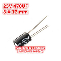 Wholesale UF V X12mm Electrolytic Capacitor V UF mm Aluminum Electrolytic Capacitor