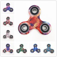 Wholesale New Colorful Fidget Spinner Tri Spinner Toys Camouflage Fidget Finger Relieve Stress Gift For Adult And Children Fidget Hand Spinner