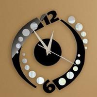 acrylic craft mirrors - new sale d craft quartz living room plastic mirror wall clock mirrored acrylic watch clocks home decoration