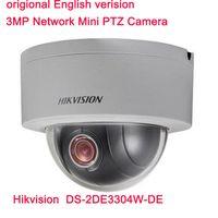 al por mayor mini cámara con zoom de seguridad-Hikvision Original English Version DS-2DE3304W-DE 3MP Red Mini PTZ Cámara IP 4X Zoom IP66 PoE Cámara CCTV de Seguridad