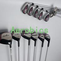 Wholesale Hot New womens Golf Clubs Woods Golf Irons set P S Putter with Graphite Golf shaft L flex
