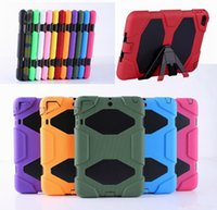 Wholesale Military Extreme Heavy Duty WATERPROOF DEFENDER CASE Cover For iPad Mini Air Pro STAND Holder Hybrid SHOCKPROOF Cases