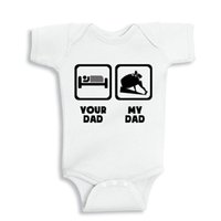 baby lifts - My Daddy lift Weights your Daddy sleep Baby cotton outfit boy girl gift clothes newborn baby New Dad Mom