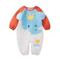 airs cute clothes - In The New Baby Warm Air Side Of The Open Cotton CloThing Baby Crawling Clothes