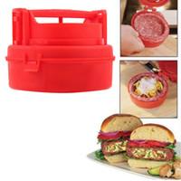 Wholesale Plastic Kitchen Cooking Tools Mini Hamburger Meat Press Burger Maker Barbecue Innovative Kitchenware Patties Make Tools WA1441