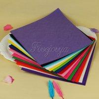 Wholesale 15Color Nonwoven Felt Fabric Mix Colors mm Polyester Cloth cm cm cm cm DIY Sewing For Scrapbooking Dolls Bag Party Xmas Decor