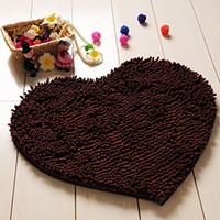 Wholesale x50cm Home Decor Products Fluffy Red Love Heart Bedroom Rug Carpet Floor Bath Mat Chenille Doormat Colors