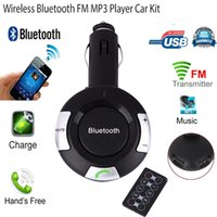 Wholesale Bluetooth Car Kit Cigarette Lighter MP3 FM Transmitter Double USB Charger Handsfree Car styling Retail
