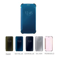 Wholesale Clear View Window Smart Flip Case for Samsung galaxy s5 s6 s7 s8 edge plus A7 A5 A3 cover