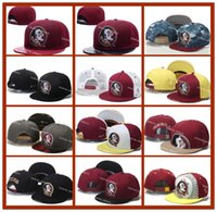 Ball Cap ball state football - 2017 All Teams NCAA Florida State Snapbacks Red Seminoles Football Cap American College Adjustable Hats Mens Embroidered Logos Mix Order