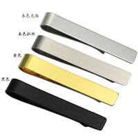 Wholesale 2016 Mens Simplicity Tie Clip Bar for Regular Skinny Neckties Matte Silver Gold Black Mens Tie Clips as Christmas Gifts