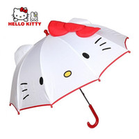 Wholesale NEW HOT lovely Cartoon Hello Kitty children anime umbrella for kids girl cute umbrella baby white umbrella