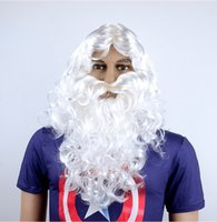 Wholesale Christmas Day White Curly Hair Wig Christmas Old Man Wig Cosplay Wig