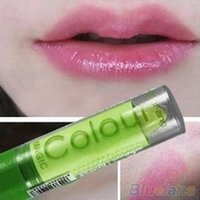 Wholesale Popular Women Sexy Waterproof Fruity Smell Lipstick Lip Cream Changeable Color Make Up GQ6 BO4Y