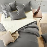 Wholesale Modern Style adult Cotton Active printing and dyeing Solid color Bedding sets King Queen size