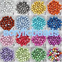 Wholesale High Quality MM Acrylic Miracle Round Spacer Beads D illusion Plastic Beads for Jewelry Neclaces Bracelets Earrings