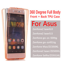 asus crystal black - For Asus Zenfone ZE500XL degree Case Cover Soft TPU Full body Protective Crystal Clear front back Phone Cases