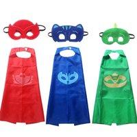 big masks - PJ Masks Cape and Mask Cartoon Set Clothes PJ Masks Costume Clothing Owlette Catboy Gecko