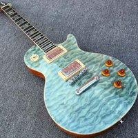 abalone photos - New LP Standard Electric guitar with One Piece Body Neck Wooden binding Ebony fretboard with Abalone inlay Quilted Maple Real photo shows