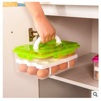 Wholesale Double Layer Refrigerator Eggs Holder Airtight Storage Container Plastic Box