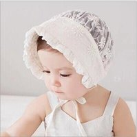 Wholesale The new bud silk flower princess hat The infant child sun hat The baby cap cap one hundred days one full year of life