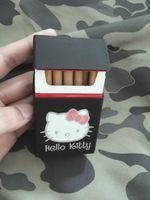 Wholesale Black Hello Kitty Cigarette Case Soft Silicone Holds Cigarettes Cover