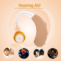 Wholesale JECPP Ear Sound Amplifier Hearing Aid Behind the Ear Volume Adjustable Audiphone Hearing Assistance with Earplug for Elderly