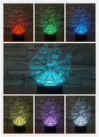 Wholesale Star Wars Millennium Falcon D LED Night Light Colorful Atmosphere Lamp Novelty Lighting