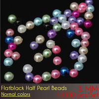 abs discount - Plastic beads with ABS Flat Back Half Pearl Beads mm Normal Color have discount for more
