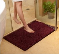 Wholesale Home Furnishing Living room Carpet Pure Bedroom Door Mat Floor Mat Plush Shaggy carpet soft bathroom door doormat antiskid mat