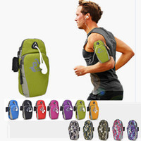 Wholesale Running GYM Bag Arm Pouch Multipurpose Phone Pouch Holster Cell Phone Arm Bag with Adjustable Elastic Armband and Earphone Hole