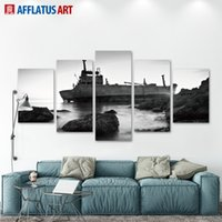 arts pictures house - 5 Pieces Wall Art Oil Painting On Canvas Printed Painting Pictures Home Decor Painting Large Living Room For Elite Housing Unframed