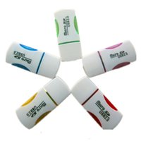 Wholesale Portable Colorful USB Card Reader Micro SD TF T Flash Card Reader USB Memory Card Reader Adapter Flash Drive