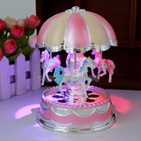 Wholesale Plastic Carousel Music Box with Flash Light for Birthday Christmas Gift you will love this piece so much