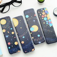 beautiful boxes for storage - Light Years Beautiful Universe Star Space Starry Sky Iron Tin Metal Drawer Type Pencil Case For Pen Stationery Storage Box Gift