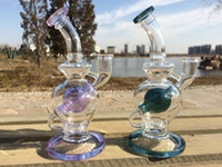 Glass amethyst eggs - New Glass bong fab egg Bongs Faberge Egg Water pipe recycler bongs original oil rig dabs glass Amethyst and Arc green color
