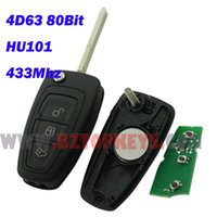 ad cm - Original F0050 Flip car remote key AM5T K601 AD button HU101 Mhz D63 chip for ford New focus