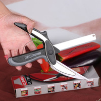 Wholesale 2016 Kitchen Clever Cutter Hot in Smart Scissors Knife Set With Mini Cutting Board Clever Cutter DHL Free