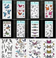beautiful foot tattoos - temporary tattoo paper waterproof tattoo sticker personality beautiful d butterfly tattoos for girls women arm face body shoulder