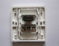 Wholesale Newest Wall Face Plate Outlet With HDMI RCA Audio Video x86mm White Panel For Home Decoration