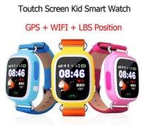 DHL rápido GPS Q90 Reloj pantalla táctil WIFI Posicionamiento Smart Watch Niños SOS Llamar Ubicación Finder Dispositivo Anti Lost Recordatorio PK Q60 Q80