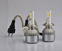 automobile lamps - C6 Car Headlights W LM Led Light Bulbs H1 H3 H7 H11 H4 H13 Automobiles Headlamp K Fog Lamps