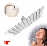 Wholesale Inch cm Square Top Spray Shower High Pressure Stainless Steel Showerhead Your Best Choice