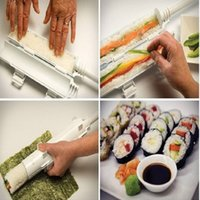 Wholesale Sushi Roll Maker Kit Bazooka Sushezi Roller Rice Roller Mold Mould Chef Kitchen DIY Set OOA789