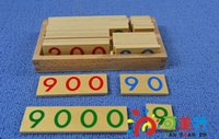 Wholesale Baby Toy Wood Small Number Cards Montessori Math Preschool Early Childhood Education Kids Brinquedos Juguetes