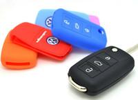 Wholesale VW flip Key Silicone Case For VW remote key button vw key cover
