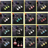 american chest - 2016 New women s fashion Christmas festival gifts Earrings necklace suits Pendant chest chain mixed order
